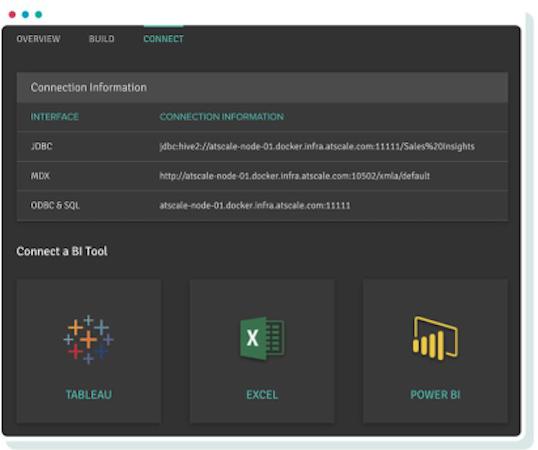Atscale connect bi tool