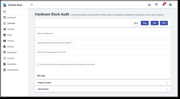 Kendra Align audit