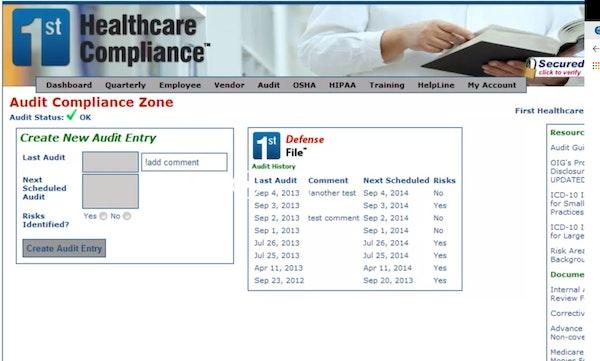 Audit compliance