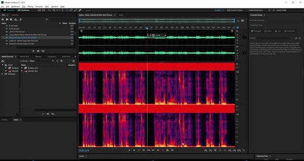 Adobe Audition waveform scaling