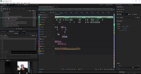 Adobe Audition Essential Sound panel