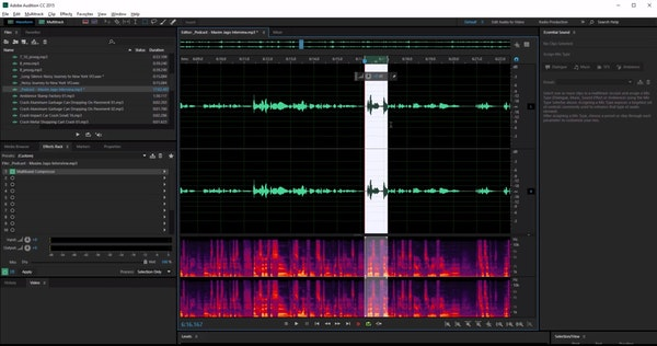 Adobe Audition editing podcasts