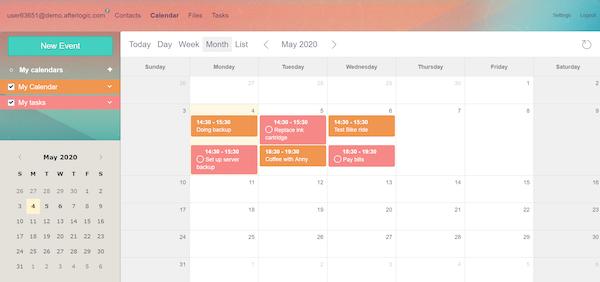 Aurora calendar