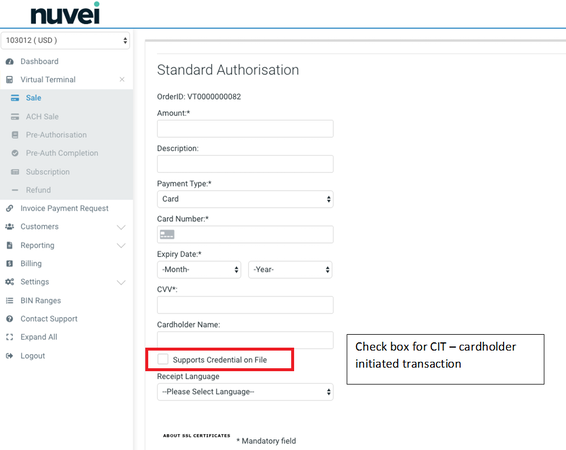 Nuvei authorization management