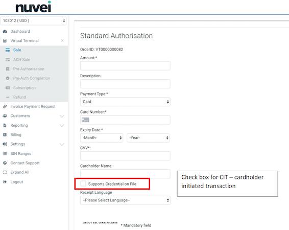 Nuvei authorization management