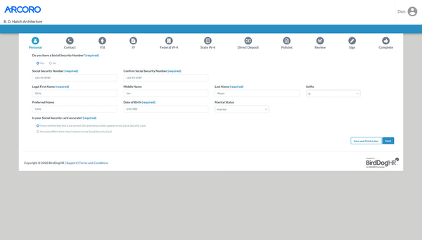 Automate new hire paperwork