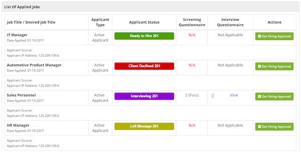 AutomotoHR application status