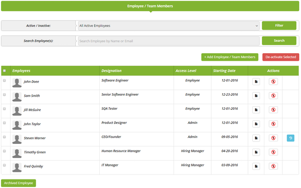 AutomotoHR employee records