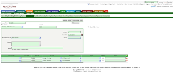 Averiware Integrated Invoicing
