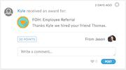 Bucketlist awards screenshot.
