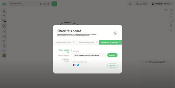 AWW App board sharing