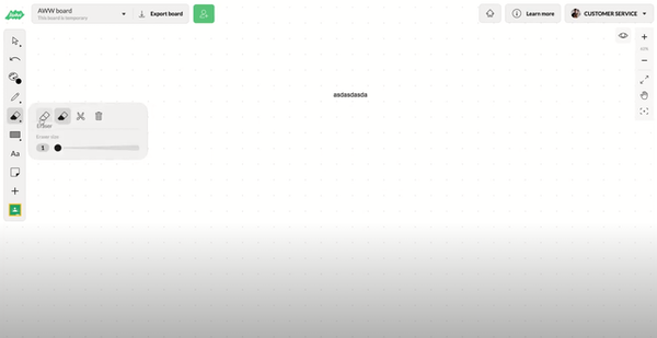 AWW App toolbar