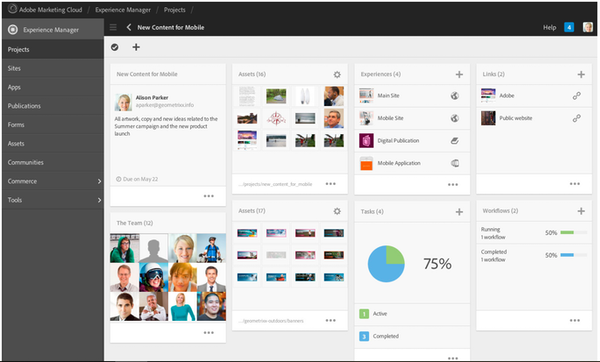 Adobe Experience Manager new content