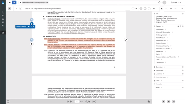 Luminance document review