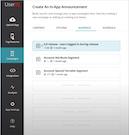 UserIQ in-app announcement