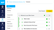 WileyPLUS course modules