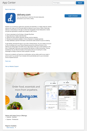 delivery.com search apps in app center