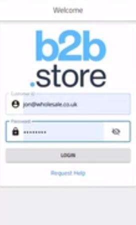 b2b.store login page