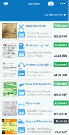 Expensya invoices