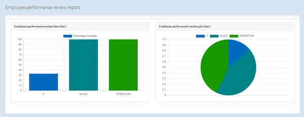 OleaERP employee performance review report