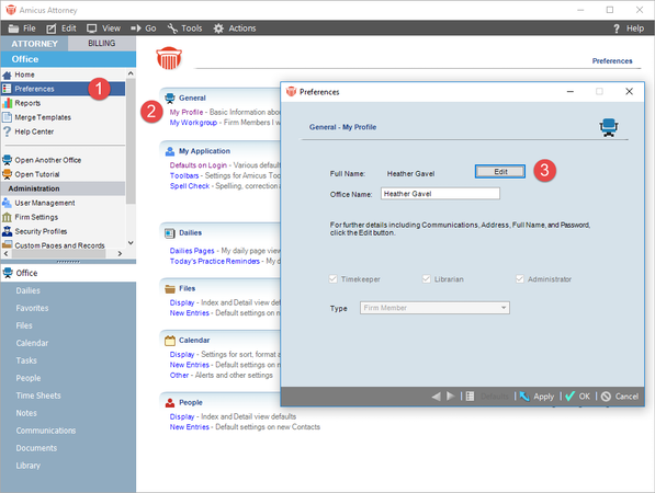 Amicus billing software login