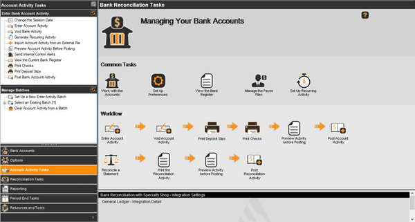 Bank Reconciliation Workflow