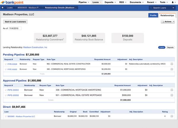 BankPoint relationship details