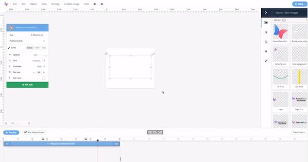 Bannerflow ad creation