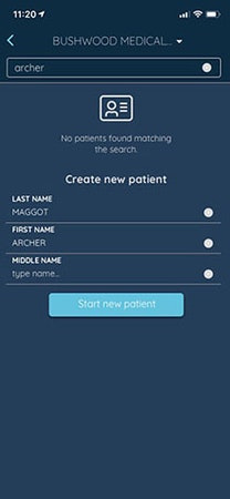 Claimocity create new patient