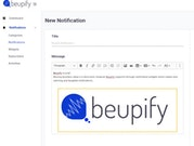 Beupify create notifications
