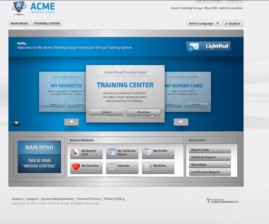 LightSpeed VT training center