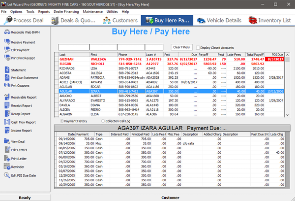 Lot Wizard buy-here-pay-here module