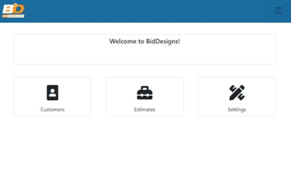 BidDesign dashboard