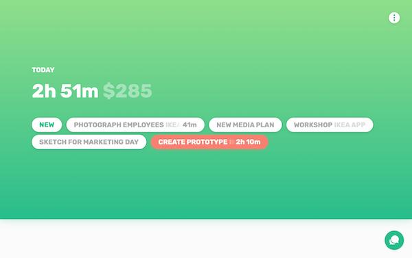 Simple creating prototype screenshot