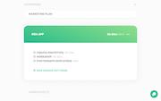 Simple marketing plans screenshot