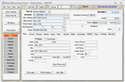 Billing Customer Account Screen