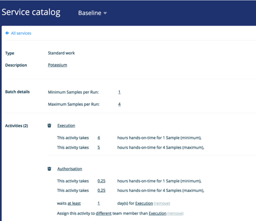 Binocs service catalog