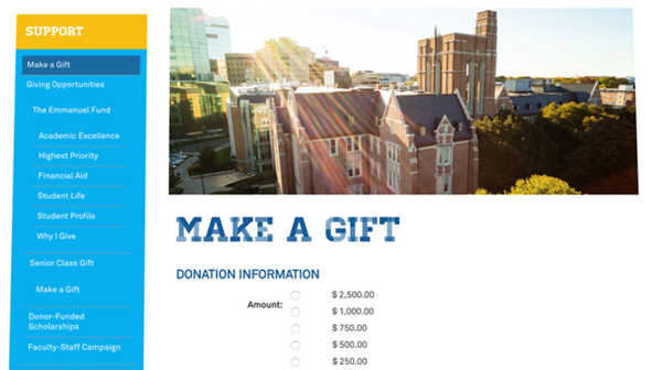 Blackbaud NetCommunity donation tracking