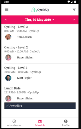 TeamUp schedule