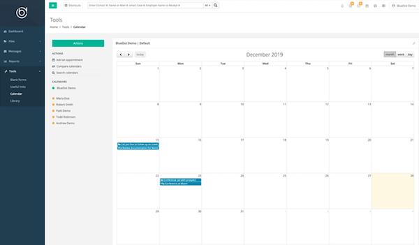 BlueDot calendar
