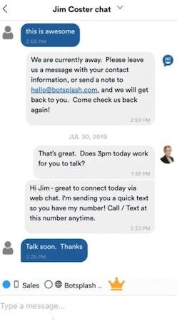 Botsplash chat