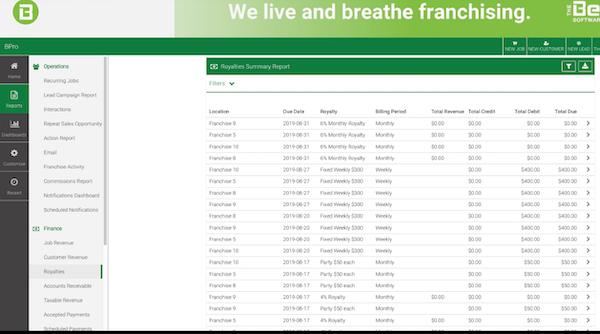 BPro royalty calculator screenshot