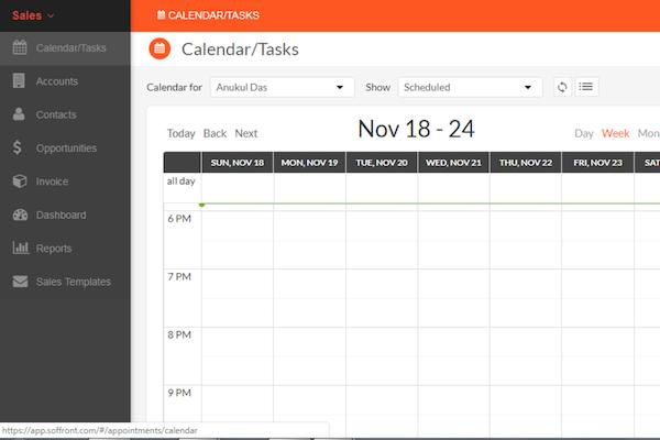 BrandWide calendar screenshot