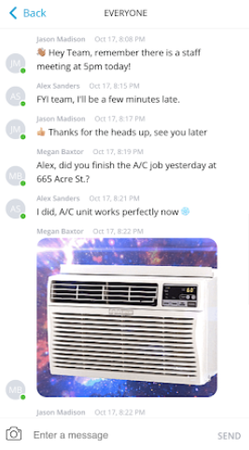 Broadly built-in chat