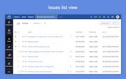 Zoho BugTracker issue list