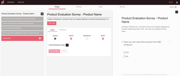 BlockSurvey survey builder screenshot