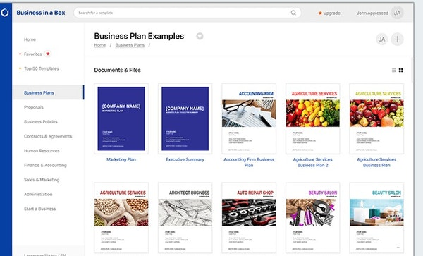 Business-in-a-Box business plans