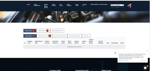 Busy Wrench home page
