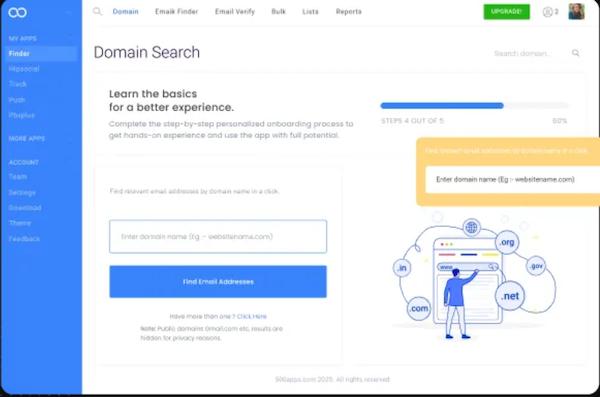 Finder.io domain search