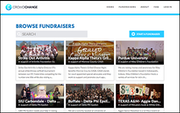 CrowdChange browse fundraisers